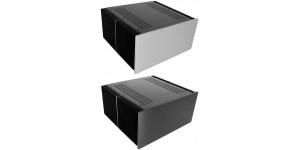 Kühlkörper Gehäuse mit 10mm Frontplatte, Tiefe 400mm ALU