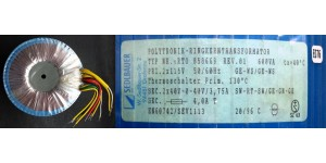 Sedlbauer Ringkerntransformator 600W (Neuware)